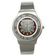 Stained Glass Window Library Of Congress Stainless Steel Watch