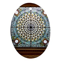 Stained Glass Window Library Of Congress Oval Ornament (Two Sides)