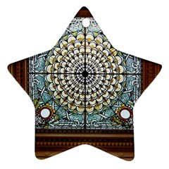 Stained Glass Window Library Of Congress Star Ornament (Two Sides)