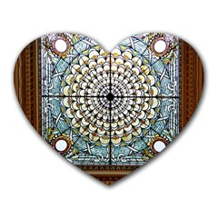 Stained Glass Window Library Of Congress Heart Mousepads