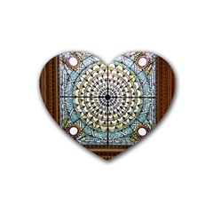 Stained Glass Window Library Of Congress Heart Coaster (4 pack)