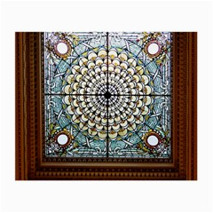 Stained Glass Window Library Of Congress Small Glasses Cloth (2-Side)