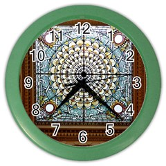 Stained Glass Window Library Of Congress Color Wall Clocks