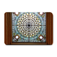 Stained Glass Window Library Of Congress Small Doormat