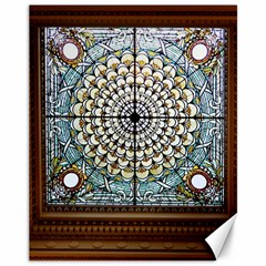 Stained Glass Window Library Of Congress Canvas 11  x 14