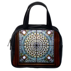 Stained Glass Window Library Of Congress Classic Handbags (one Side)