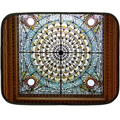 Stained Glass Window Library Of Congress Fleece Blanket (Mini)