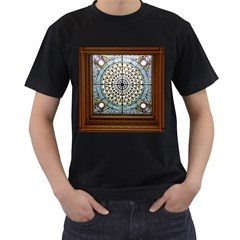 Stained Glass Window Library Of Congress Men s T-Shirt (Black)