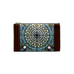 Stained Glass Window Library Of Congress Cosmetic Bag (Small)
