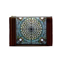 Stained Glass Window Library Of Congress Cosmetic Bag (Medium)