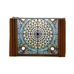 Stained Glass Window Library Of Congress Cosmetic Bag (Large)
