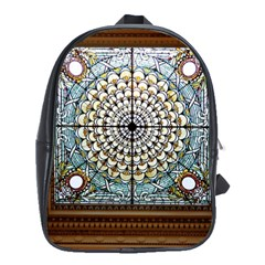 Stained Glass Window Library Of Congress School Bags(Large)