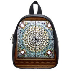 Stained Glass Window Library Of Congress School Bags (Small)