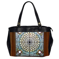 Stained Glass Window Library Of Congress Office Handbags (2 Sides)