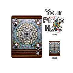 Stained Glass Window Library Of Congress Playing Cards 54 (mini)