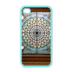 Stained Glass Window Library Of Congress Apple Iphone 4 Case (color)