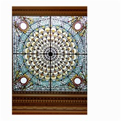 Stained Glass Window Library Of Congress Small Garden Flag (two Sides)
