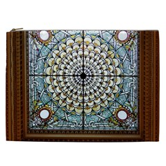 Stained Glass Window Library Of Congress Cosmetic Bag (XXL)