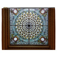 Stained Glass Window Library Of Congress Cosmetic Bag (XXXL)