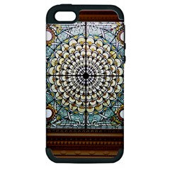 Stained Glass Window Library Of Congress Apple Iphone 5 Hardshell Case (pc+silicone)
