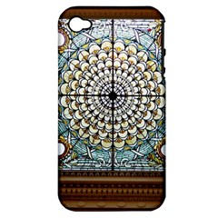 Stained Glass Window Library Of Congress Apple Iphone 4/4s Hardshell Case (pc+silicone)