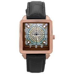 Stained Glass Window Library Of Congress Rose Gold Leather Watch