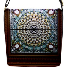 Stained Glass Window Library Of Congress Flap Messenger Bag (s)