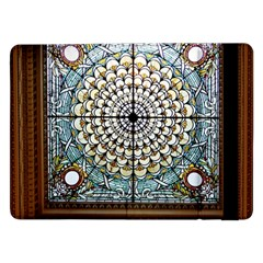 Stained Glass Window Library Of Congress Samsung Galaxy Tab Pro 12 2  Flip Case