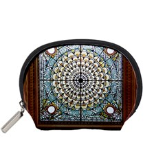 Stained Glass Window Library Of Congress Accessory Pouches (Small)
