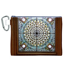 Stained Glass Window Library Of Congress Canvas Cosmetic Bag (xl)