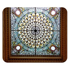 Stained Glass Window Library Of Congress Double Sided Flano Blanket (Small)
