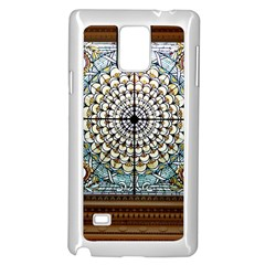 Stained Glass Window Library Of Congress Samsung Galaxy Note 4 Case (White)