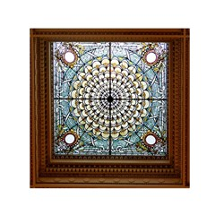 Stained Glass Window Library Of Congress Small Satin Scarf (Square)