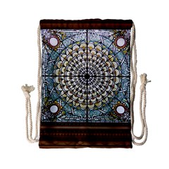 Stained Glass Window Library Of Congress Drawstring Bag (Small)