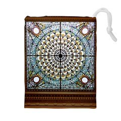Stained Glass Window Library Of Congress Drawstring Pouches (Extra Large)