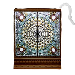 Stained Glass Window Library Of Congress Drawstring Pouches (XXL)