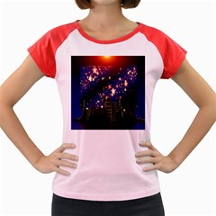 Star Advent Christmas Eve Christmas Women s Cap Sleeve T-Shirt