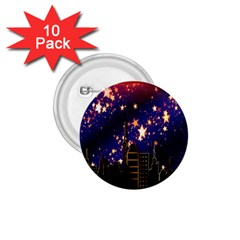 Star Advent Christmas Eve Christmas 1.75  Buttons (10 pack)