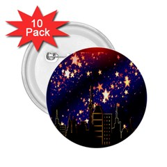 Star Advent Christmas Eve Christmas 2 25  Buttons (10 Pack)