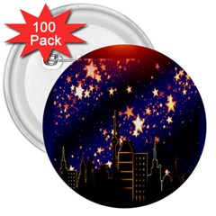 Star Advent Christmas Eve Christmas 3  Buttons (100 pack)