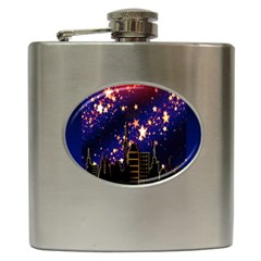 Star Advent Christmas Eve Christmas Hip Flask (6 Oz)