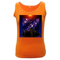 Star Advent Christmas Eve Christmas Women s Dark Tank Top