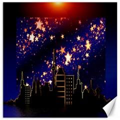 Star Advent Christmas Eve Christmas Canvas 16  x 16
