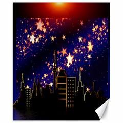 Star Advent Christmas Eve Christmas Canvas 16  x 20