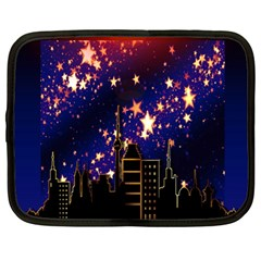 Star Advent Christmas Eve Christmas Netbook Case (large)