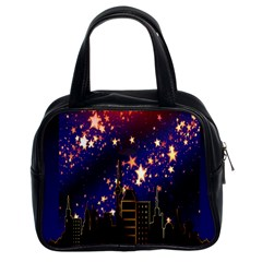 Star Advent Christmas Eve Christmas Classic Handbags (2 Sides)