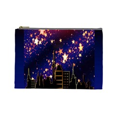 Star Advent Christmas Eve Christmas Cosmetic Bag (Large)