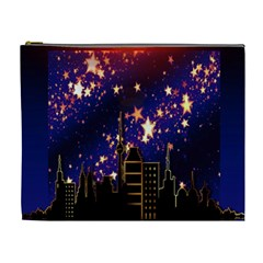 Star Advent Christmas Eve Christmas Cosmetic Bag (xl)