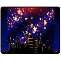 Star Advent Christmas Eve Christmas Fleece Blanket (Medium)
