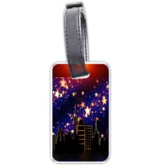 Star Advent Christmas Eve Christmas Luggage Tags (Two Sides)